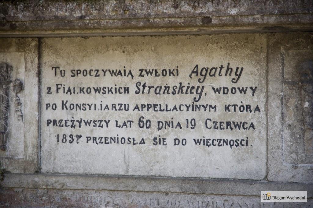 Nagrobek na cmentarzu Łyczakowskim - wdowa po konsyliarzu apellacyjnym