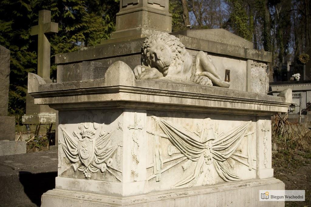 Nagrobek na cmentarzu Łyczakowskim - grób żołnierza armii napoleońskiej