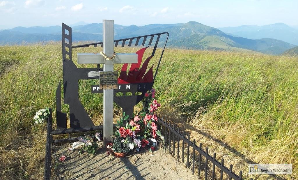 Wielka Fatra, szczyt Ploska, grób słowackiego powstańca