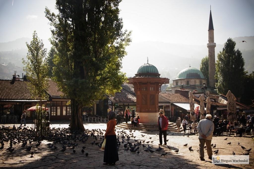 Sarajewo, plac Baščaršija o poranku