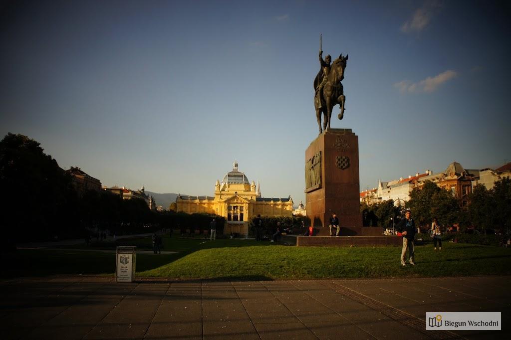 Pomnik króla Tomisława - z tego miejsca startuje free walking tour w Zagrzebiu