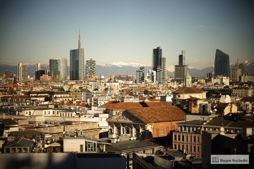 Mediolan Widok Z Dachu Duomo