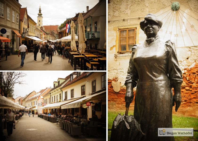 Atrakcje Zagrzebia: Ulica Tkalčićeva i pomnik słynnej chorwackiej pisarki, walczącej o prawa kobiet