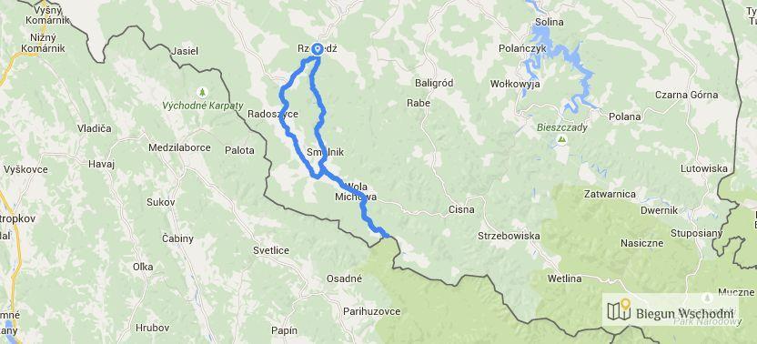 Rowerem po Bieszczadach - plan trasy