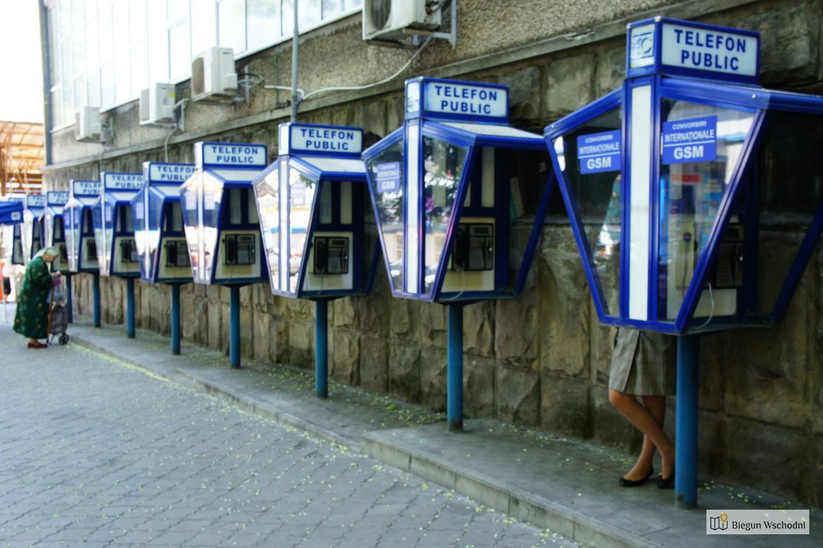 Kiszyniów, budki telefoniczne