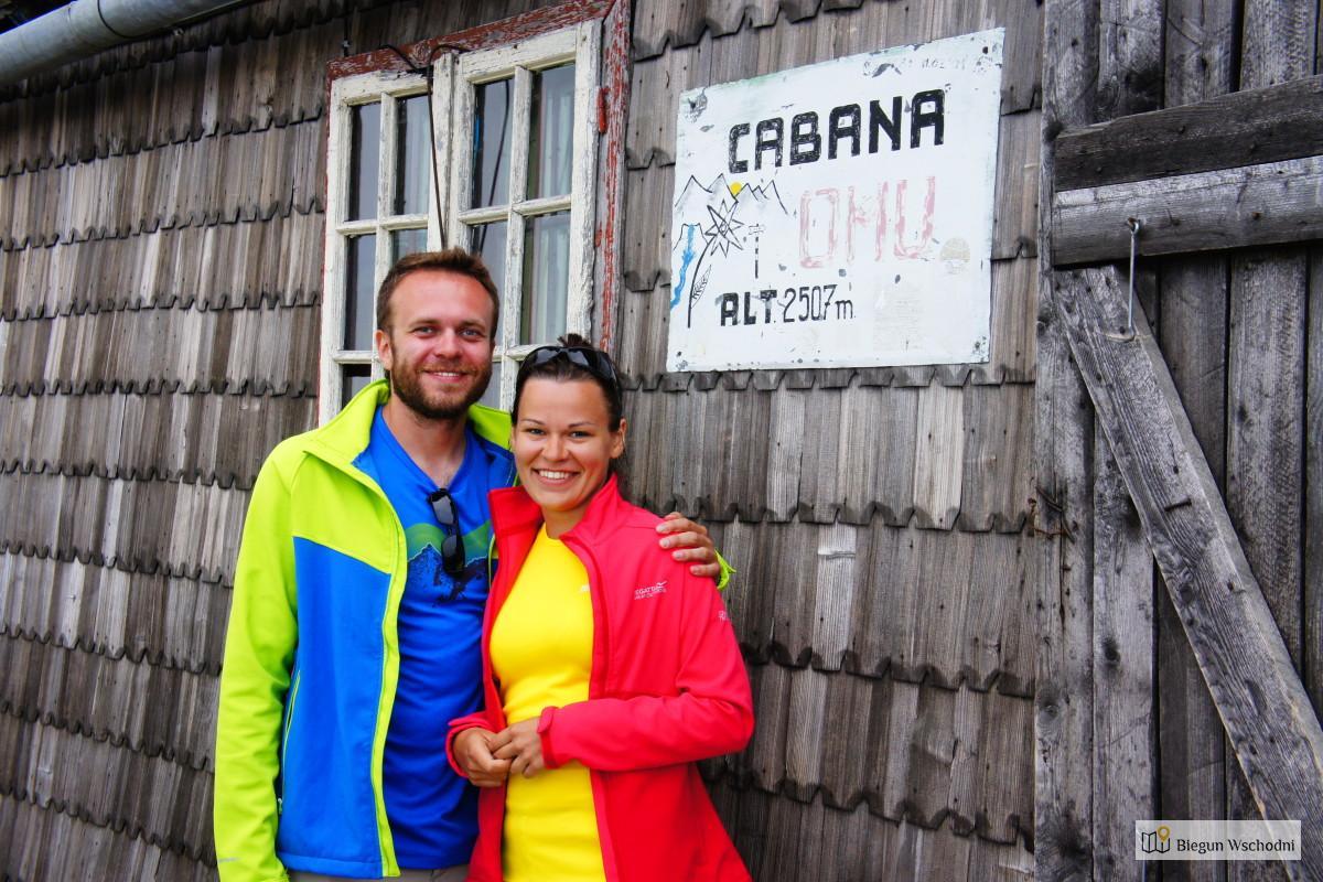 Przed schroniskiem na szczycie Omu, góry Bucegi, Rumunia