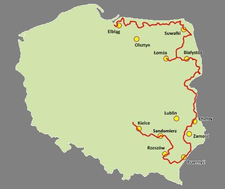 Mapa szlaku Green Velo