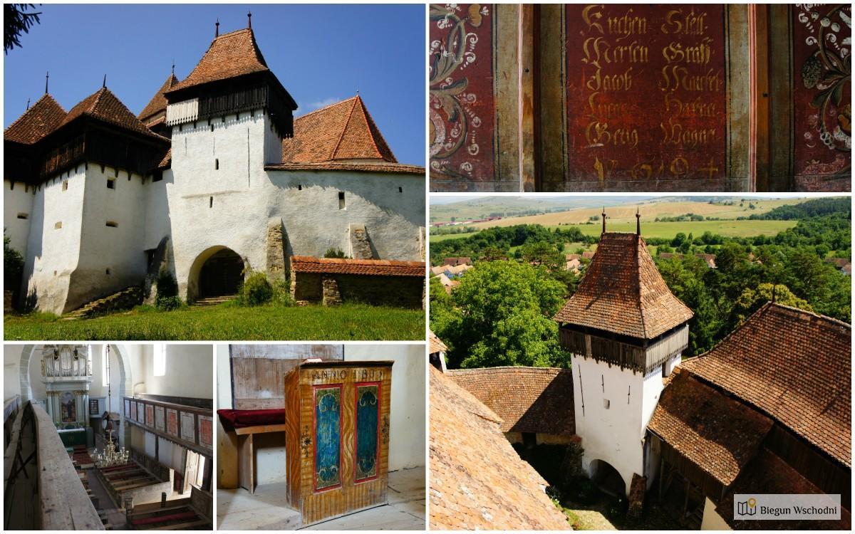 Atrakcje Rumunii - Viscri - kościół warowny UNESCO
