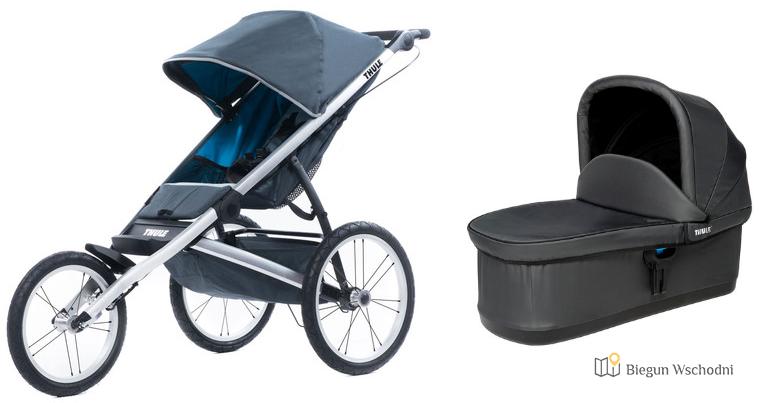 Thule Glide Dark Shadow - wózek z hamulcem ręcznym do biegania i jazdy na rolkach