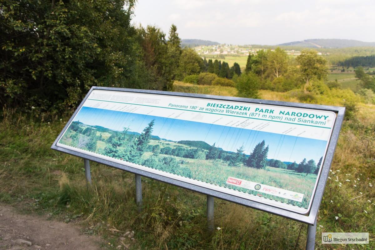 Szlak do źródeł Sanu - widok na Sianki