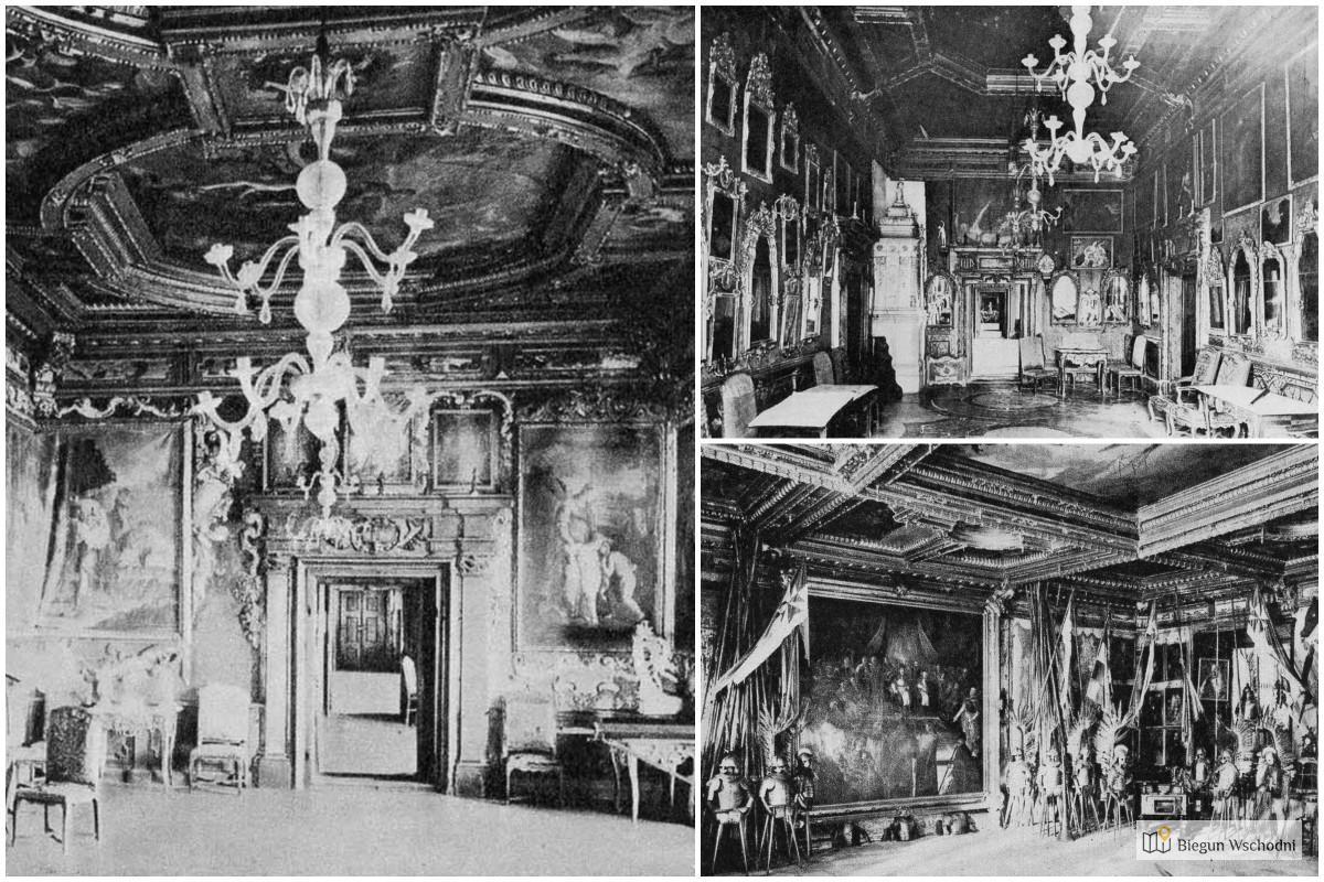 Pałac w Podhorcach - wnętrza. Domena publiczna