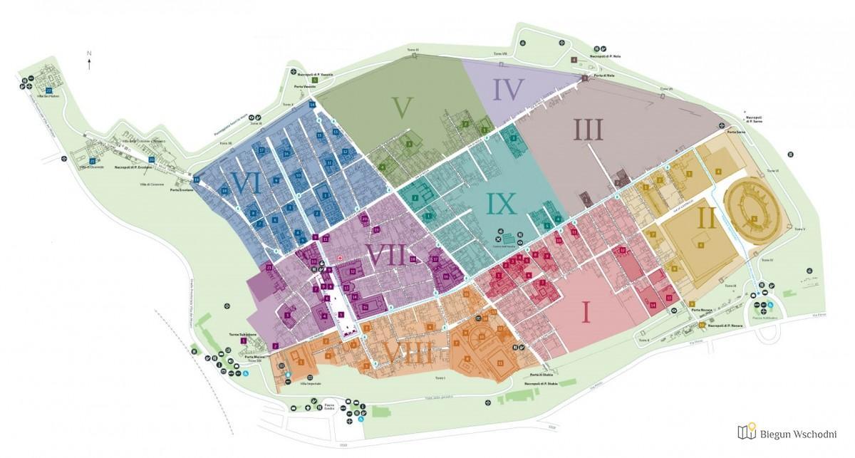 Pompeje mapa miasta