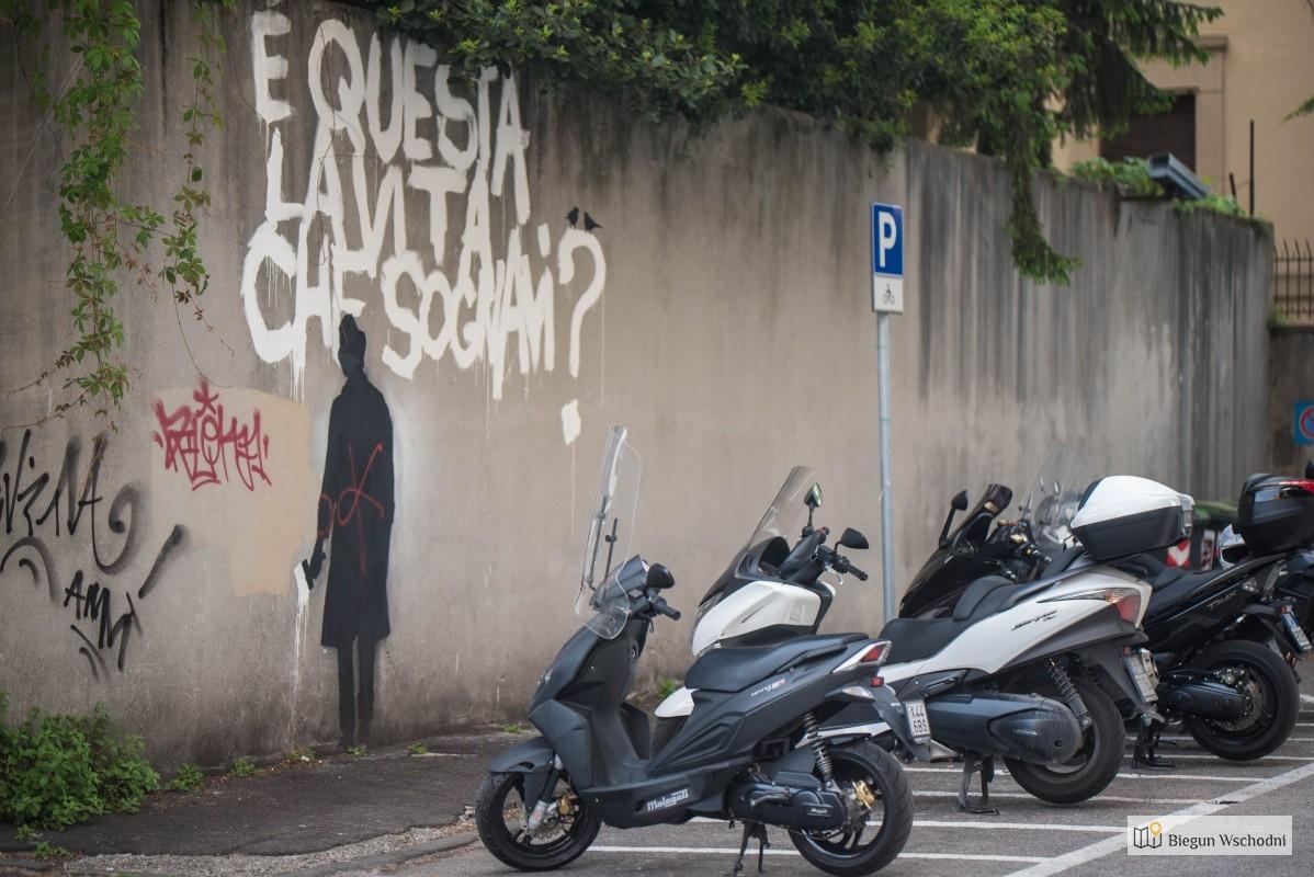 Street art w Padwie. Kenny Random